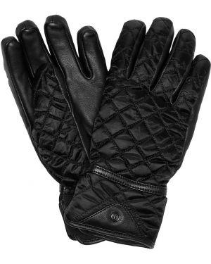 Кожаные перчатки с мехом стеганый Bogner