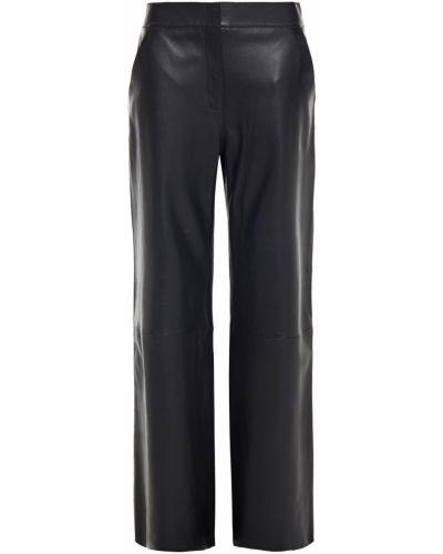Кожаные черные брюки с накладными карманами Stand Studio