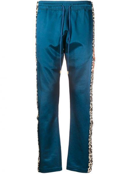 Niebieskie spodnie bawełniane z haftem Just Don