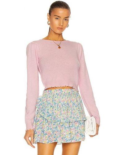 Różowy sweter z akrylu Loveshackfancy