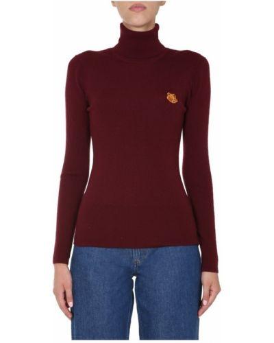 Prążkowany czerwony sweter bez rękawów Kenzo
