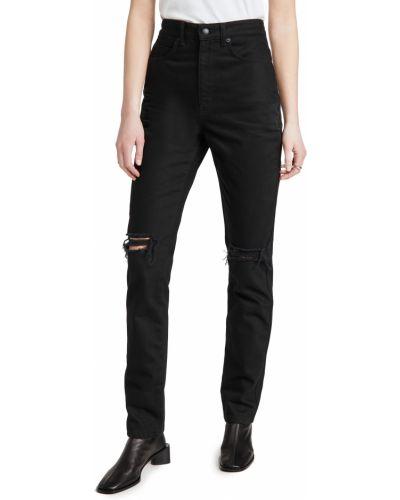 С завышенной талией черные джинсы с карманами Denim X Alexander Wang
