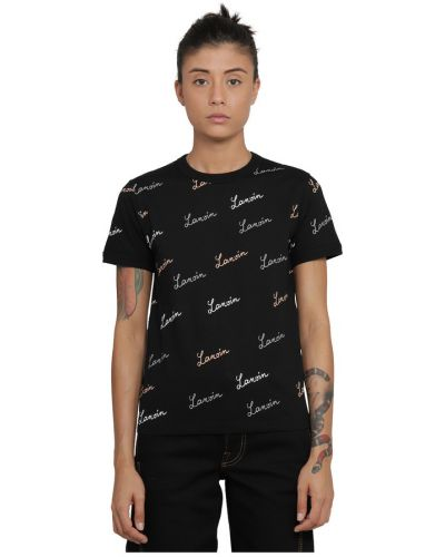 Czarna t-shirt Lanvin