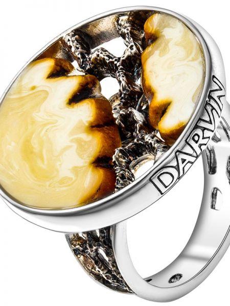 Серебряное кольцо с декоративной отделкой Darvin