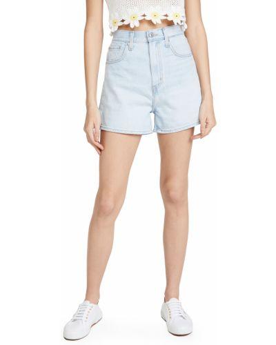 Хлопковые с завышенной талией джинсовые шорты с карманами Levi's®
