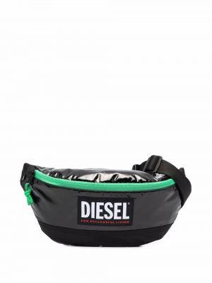Biały pasek z paskiem Diesel