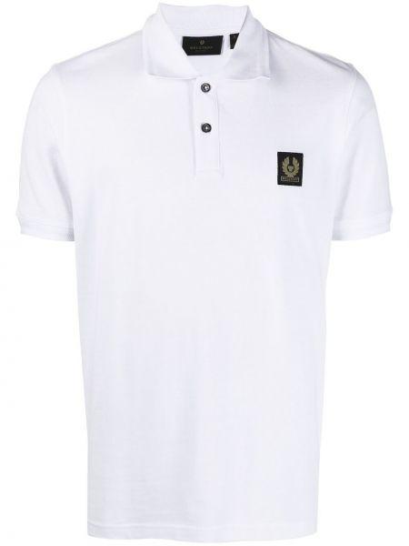 Biała koszula krótki rękaw bawełniana Belstaff