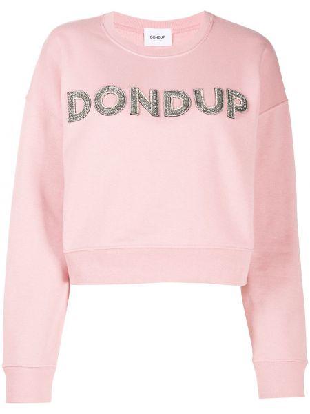 Хлопковая с рукавами розовая рубашка Dondup