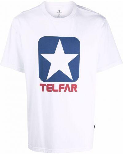 Biała t-shirt krótki rękaw Telfar