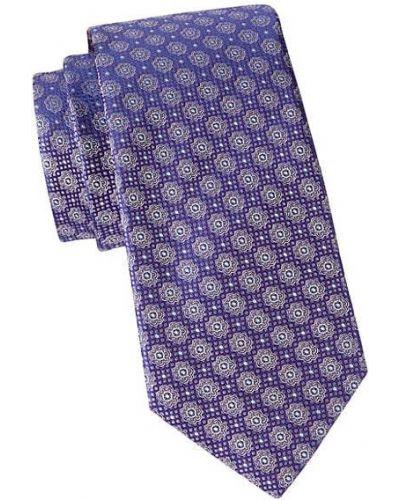 Fioletowy krawat z jedwabiu Eton