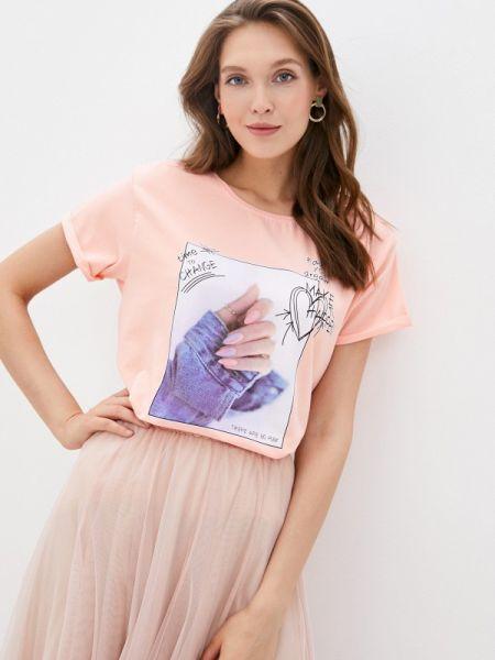 Розовая футболка с короткими рукавами Shelter