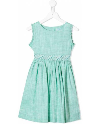 Длинное платье зеленый с рукавами Siola