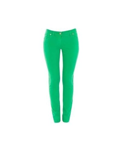 Зеленые джинсы-скинни Class Cavalli