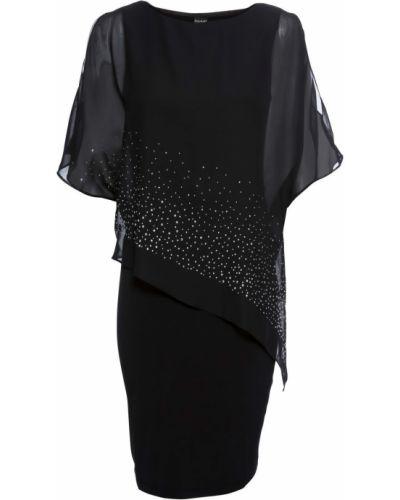 Облегающее платье с пайетками с вырезом Bonprix