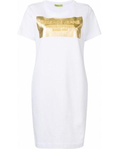 Джинсовое платье футболка мини Versace Jeans
