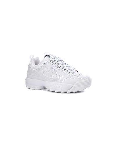 Кроссовки белые Fila