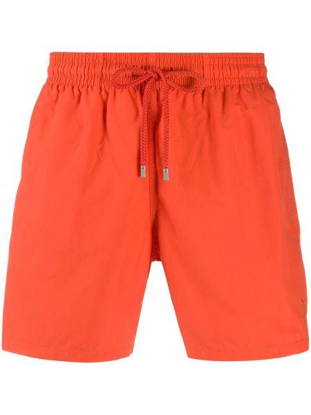 Оранжевые пляжные плавки-боксеры с карманами Vilebrequin