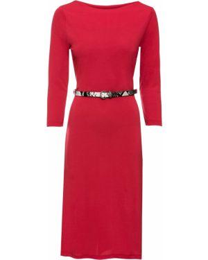 Платье миди футляр с длинными рукавами Bonprix