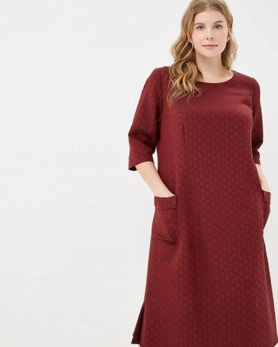 Повседневное платье бордовый красный Zar Style