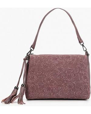 Кожаная сумка розовый с ручками Valensiy