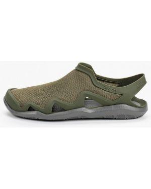 Сандалии зеленый хаки Crocs