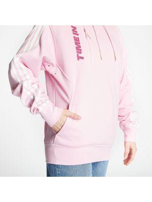 Брендовая розовая толстовка Adidas Originals