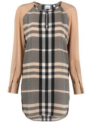 Шелковая черная блузка с вырезом Burberry