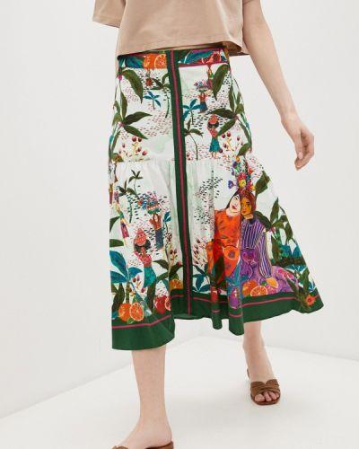 Зеленая юбка свободного кроя Colcci