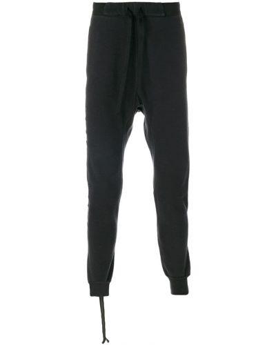 Спортивные брюки черные с заниженным шаговым швом Unravel Project