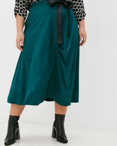 Зеленая юбка свободного кроя Svesta