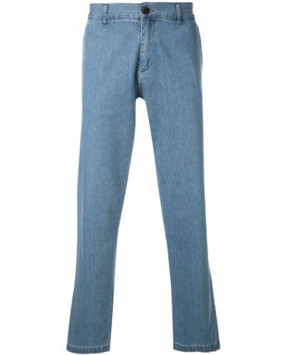 Фланелевые прямые брюки с поясом на пуговицах новогодние Portuguese Flannel