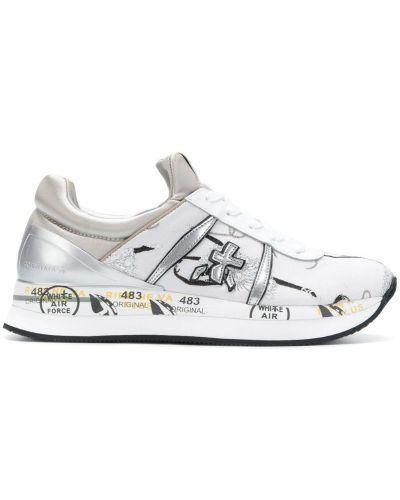 Кроссовки на шнуровке белый Premiata