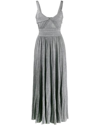 Платье серое плиссированное Antonino Valenti