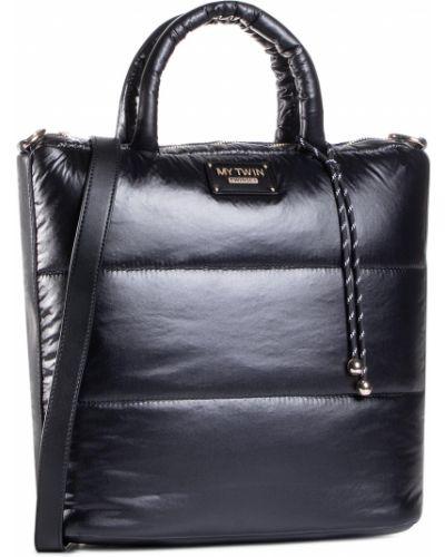 Czarny torba na zakupy My Twin