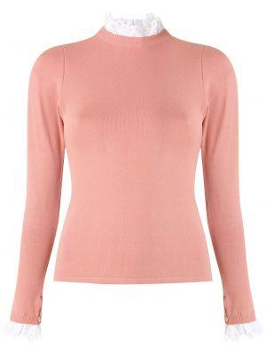 Розовая трикотажная блузка с воротником Martha Medeiros