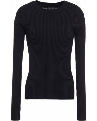 Prążkowany czarny sweter z wiskozy Rag & Bone