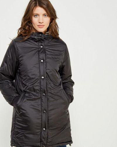 Утепленная куртка осенняя черная Iwie