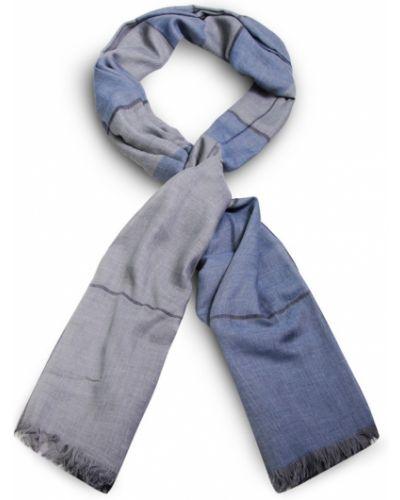 Niebieska szal w kratę Allora