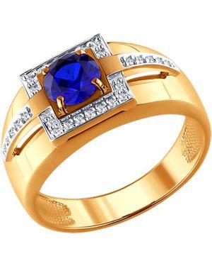 Кольцо серебряный с декоративной отделкой Sokolov
