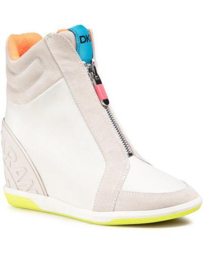 Beżowe sneakersy Dkny