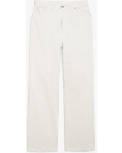 Белые широкие брюки Monki