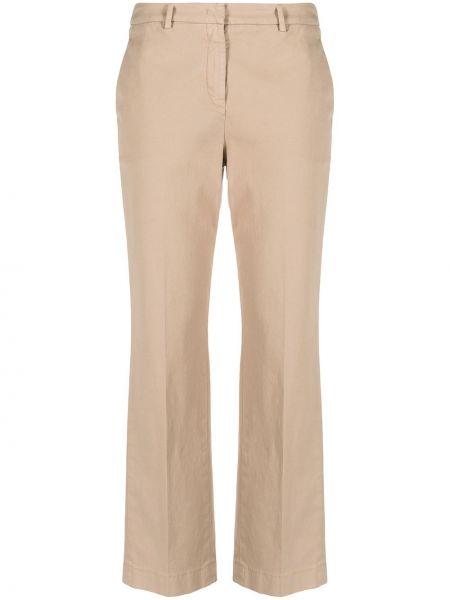 Хлопковые прямые брюки с потайной застежкой Incotex