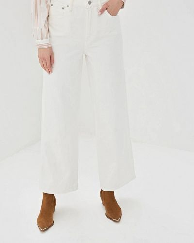 Широкие джинсы расклешенные белые Gap