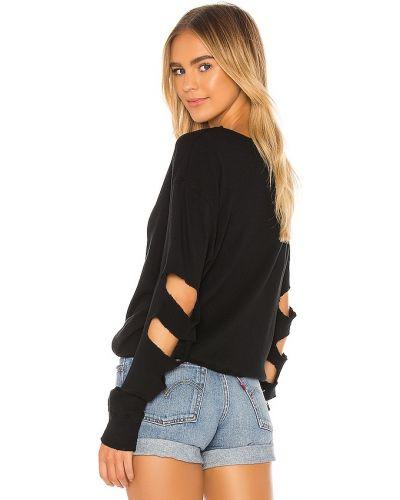 Черная хлопковая пуловер Lna