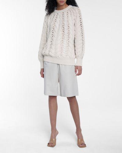 Бежевый кашемировый свитер Brunello Cucinelli