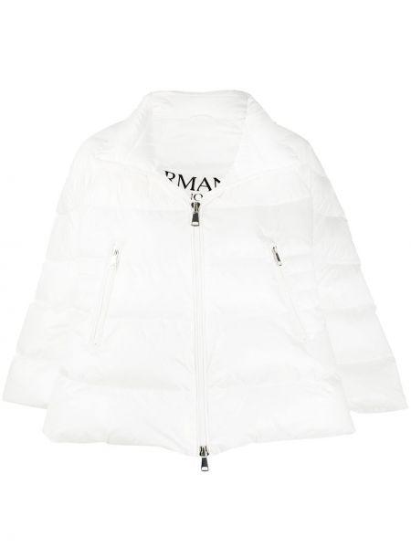 Пуховая белая длинная куртка двусторонняя Ermanno Ermanno