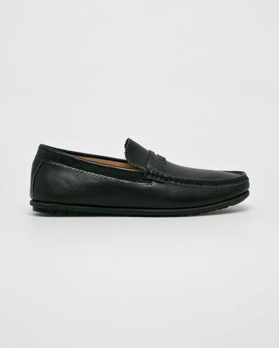 Черные кожаные туфли Gino Rossi
