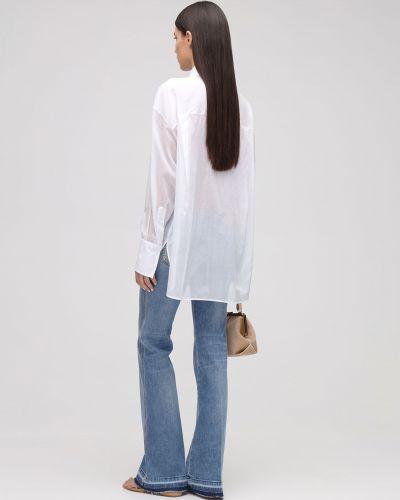 Белая рубашка с карманами на пуговицах Ermanno Scervino