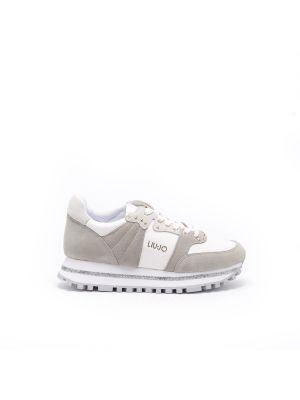Szare sneakersy skorzane Liu Jo