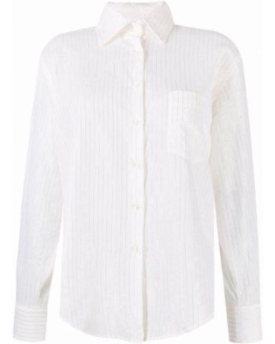 Biała koszula z długimi rękawami - biała Seventy